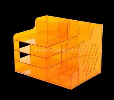 Custom orange acrylic file organziers