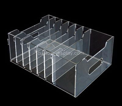 Custom 7 grids acrylic file organziers