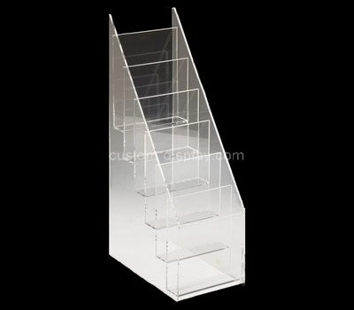 Custom 6 tiered acrylic literature holders