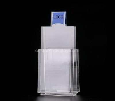 Custom table top 2 sided acrylic literature holders