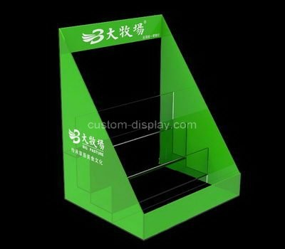 Custom table top 3 tiers acrylic literature holders