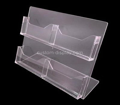 Custom table top 4 pockets acrylic business card holders