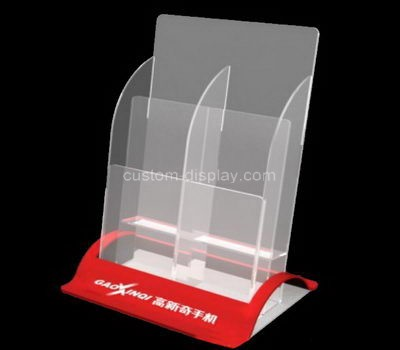 Custom table top 4 pockets acrylic leaflet holders