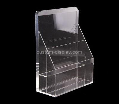 Custom table top 2 pockets acrylic leaflet holders