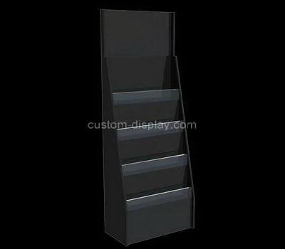 Custom 4 tiered floor standing acrylic literature holders