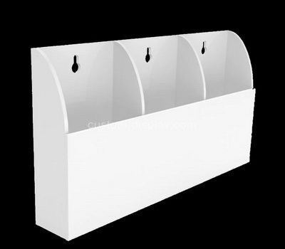 Custom wall 3 pockets acrylic literature holders
