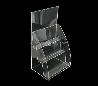 Custom 3 tiered acrylic literature holders