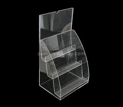 Custom 3 tiered acrylic literature holders