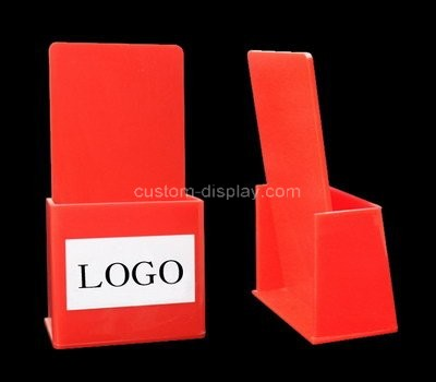 Custom table top red acrylic literature holder