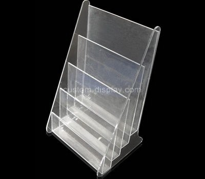 Custom table top 4 tiered acrylic literature holders