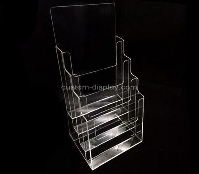 Custom 4 tiered clear acrylic leaflet holders
