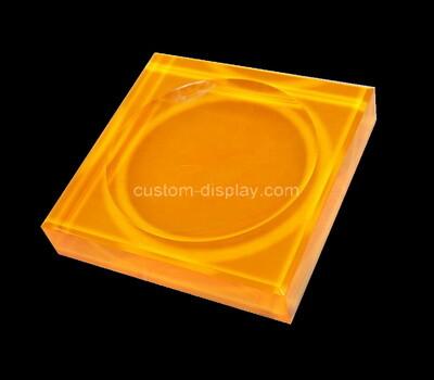 Custom orange acrylic soap dish block