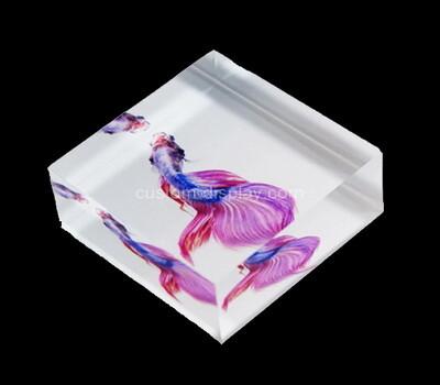 Custom clear acrylic UV printing block