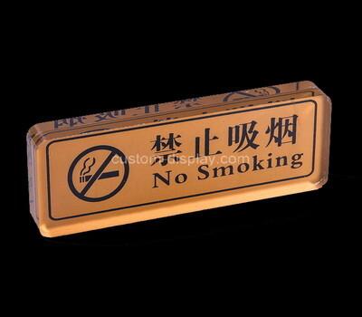 Custom acrylic no smoking sign block
