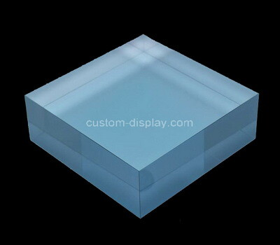 Custom blue acrylic display block