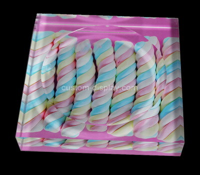 Custom acrylic UV printing soap dish block