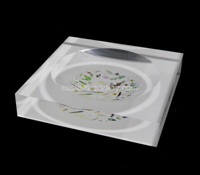 Custom acrylic UV printing soap dish
