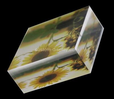 Custom acrylic UV printing display block