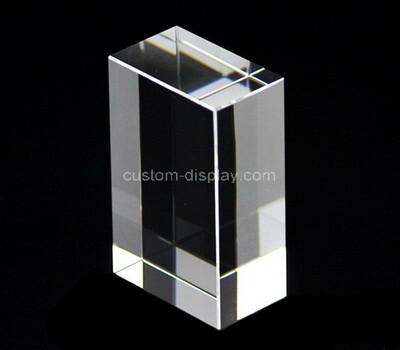 Custom clear plexiglass display block