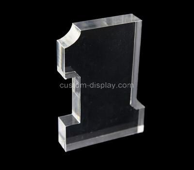 Custom clear acrylic 3D number