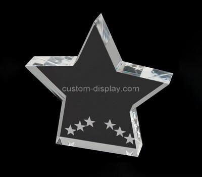 Custom clear acrylic star