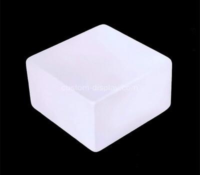 Custom white acrylic display block
