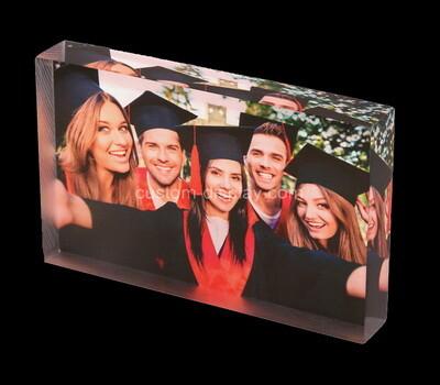 Custom acrylic UV printing photo block