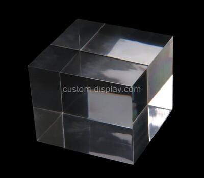 Custom clear acrylic cube