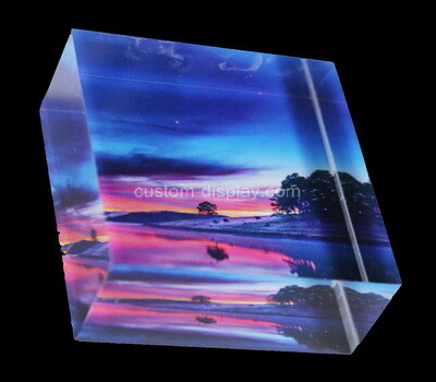 Custom acrylic UV printing picture block