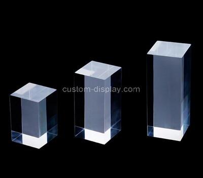 Custom clear lucite dish block