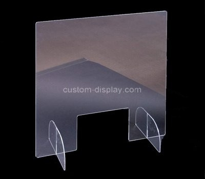 Custom counter top acrylic sneeze guard shield