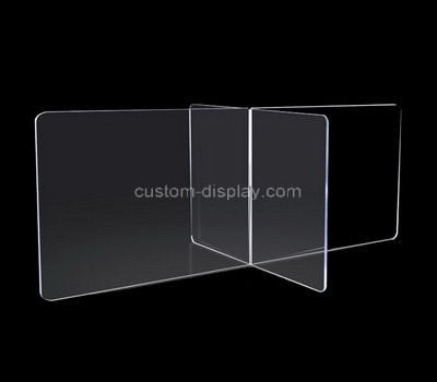 Custom table top acrylic sneeze guard shield