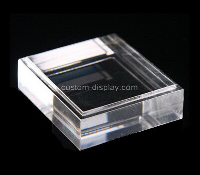 Custom clear lucite display block