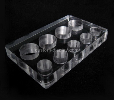 Custom clear perspex display holder block