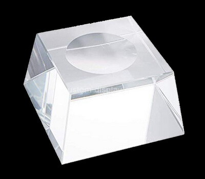Custom clear perspex soap dish block