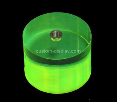 Custom round green perspex block