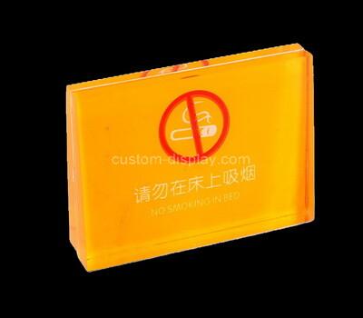 Custom perspex no smoking sign block