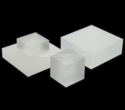 Custom white perspex display block