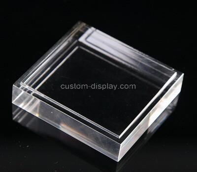 Custom clear perspex display block