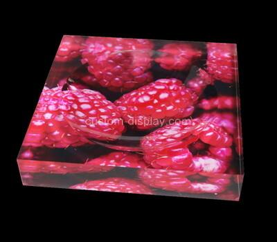 Custom perspex UV printing soap dish