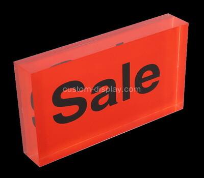 Custom red perspex sign block