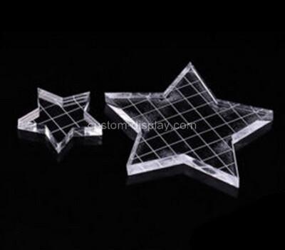 Custom five star shape acrylic stamp block