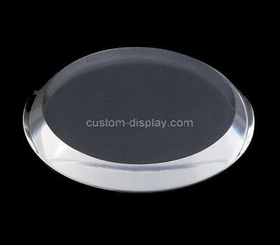 Custom round acrylic beveled display block