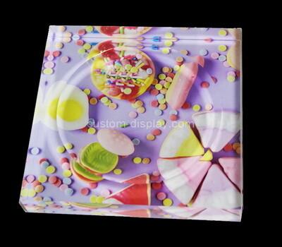 Custom acrylic soap dish with UV printing