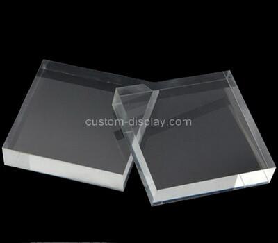Custom clear acrylic display block