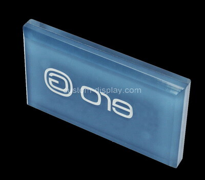 Custom blue acrylic logo block