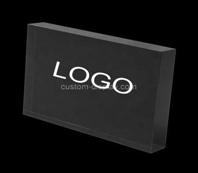 Custom black acrylic logo block