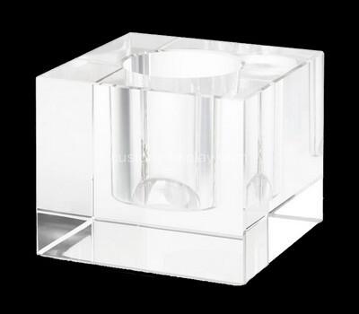 Custom acrylic candle holder block