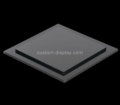 Custom black plexiglass display block