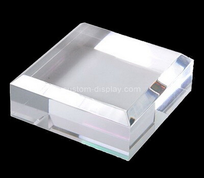 Custom clear plexiglass beveled display block